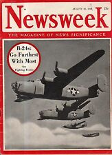 1943 Newsweek August 30-Sicily;Hungary; Mary Surratt; Phantom of the opera; B-24