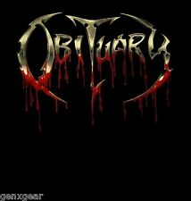OBITUARY cd lgo BLOODY LOGO Official SHIRT LARGE new