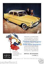Opel Kapitän Reklame von 1956 Werbung Farben ad Kapitaen