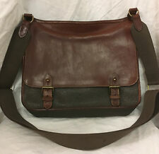 Authentic Vintage Mulberry Leather & Scotchgrain Messenger Fishermans Sloane Bag