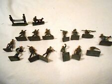 "16-Vintage 1"" WWII Lead Soldiers Made in S. Africa"