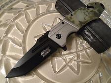Mtech Ballistic Assisted Camo Punisher Skull Tanto Folder Pocket Knife A855DG