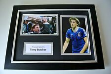 Terry Butcher Signed A4 FRAMED photo Autograph display Ipswich football & COA