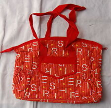 Esprit ( Wickel ) Tasche rot/orange 38 x 25 cm