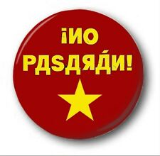"NO PASARAN - 25mm 1"" Button Badge - Novelty Cute Anti Putin Pussy Riot"