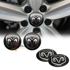 4PCS 56.5mm Dodge Logo Aluminum Auto Wheel Center Hub Cap Emblems Stickers