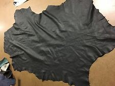Italian Lambskin Leather lamb Skin Hide Extra Thin Black - 8 Sq.Ft  (#7)