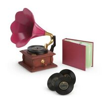 "American Girl Rebecca's Phonograph Set record player Beforever doll 18"" NEW NIB"