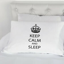 Keep Calm and Sleep Pillow Case Pillowcase Cotton Teenager Present Bedding Gift