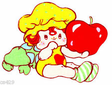 "5"" STRAWBERRY SHORTCAKE APPLE DUMPLING  VINTAGE  FABRIC APPLIQUE IRON ON"