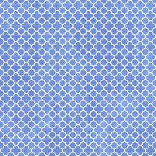 Chinese Blue & White Porcelain: LATTICE DESIGN ASIAN QUILT FABRIC (1/2 Yd.)