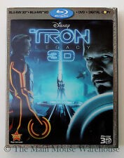 Disney's TRON LEGACY Sci-Fi Gamer Film on 3D Blu-ray DVD Digital Copy Combo Pack