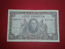 SPAIN P-118a BILLETE 100 PESETAS 1940 CRISTOBAL COLON MBC SERIE G 9849389