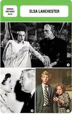 FICHE CINEMA :  ELSA LANCHESTER -  Grande-Bretagne (Biographie/Filmographie)