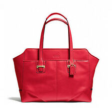 Coach Bag F25205 TAYLOR LEATHER ALEXIS CARRYALL CORAL RED Agsbeagle Sale COD
