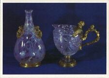 Arte antiguo tarjeta postal-henkel tetera y frasco de cristal montaña