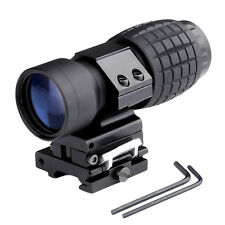 3X Magnifier Scope Sight with Flip To Side 20mm Rail Mount Scope Set