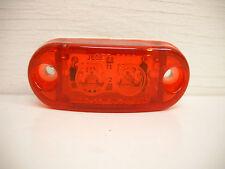 """1-Jammy 1 x 2.5"""" Oval Red LED Marker Light Truck Trailer RV white base"""