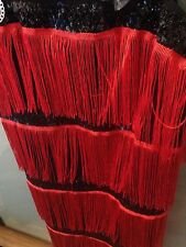 Party Cocktail Dress Red And Black With Accessories 20/22 New With Tags