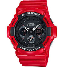 DEAL OF THE DAY NEW CASIO  GA201RD-4A  ANA-DIGI BLACK/RED, 200M WR,ALARM
