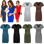 Pregnant Fashion Women Maternity Short Sleeve Casual Dress Cotton Summer Clothes
