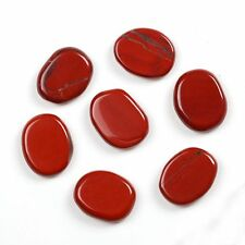 Red Jasper Chakra Stone Set Polished palm stone sold by 7pcs with one pouch