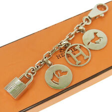 Authentic HERMES Vintage H Logos Key Holder Bag Charm Accessories NR08626