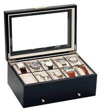 Mele e Co Watch Box per 10 orologi con cassetto rimovibile-Nero