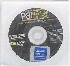 ORIGINALE Asus Scheda madre driver CD DVD p8h61-m LX Windows 7 VISTA WIN XP Sticker