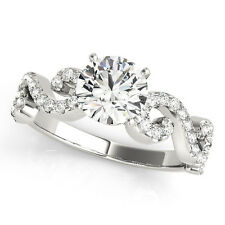 1.55 CT FOREVER BRILLIANT MOISSANITE ROUND MICRO PAVE BAND ENGAGEMENT RING