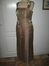 LADIES DEBUT SIZE 12/14 STUNNING GOLD SHIMMERY SKIRT AND BUSTIER PARTY TOP/DRESS