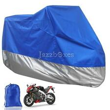 Large Blue Motorcycle Outdoor Rain Cover For Vespa 50 Ciao Bravo Grande Deluxe