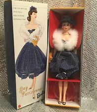 GAY PARISIENNE BARBIE  DOLL 1959 VINTAGE REPRO LIMITD EDITION  MATTEL 57610 MINT