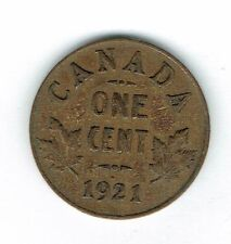 1921 Canadian Circulated George V One  Small Cent coin!