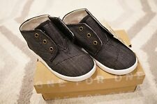TOMS Paseo Mid Black Chambray - Toddler Size 9