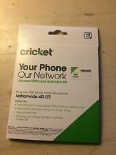 cricket wireless nano SIM card with Standard/ micro adapters and REFERRAL link