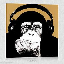 Monkey STEEZ QUADRO MODERNO STAMPA TELA POSTER SCIMMIA ARREDAMENTO CASA QUADRI