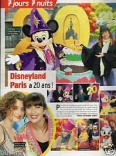 Coupure de presse Clipping 2012 (1 page) Disneyland paris a 20 ans