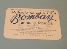 Vintage Bombay Palace Panama Business Card Perfume Hats Silk Lingerie Jewelry