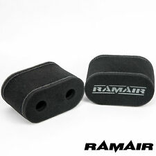 2 x RAMAIR Twin Layer High Flow Carb Sock Air Filters Weber 40 DCOE CS-911