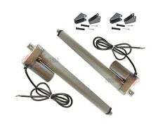 "Set of 2 22"" Linear Actuators with Brackets Stroke 12 Volt DC 200 Pound Max Lift"