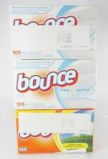 BOUNCE~LOT OF 3~105 ct. DRYER SHEETS~FABRIC SOFTENER~FREE & GENTLE~OUTDOOR FRESH
