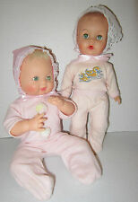 "Lot of 2  AE early 1960's drink & wet 12""-10"" vinyl baby dolls-orig pajamas  VGC"