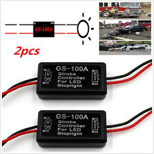 2× GS-100A Car Truck LED Brake Stop Light Flash Strobe Controller Flasher Module