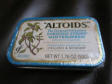"Rare ""ALTOIDS"" Wintergreen Mints with ""Less Than 2% Artificial Flavor SEALED TIN"