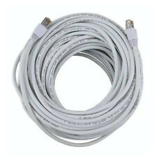 100FT White Cat5e 350MHz UTP RJ45 Ethernet Bare Copper Network Cable