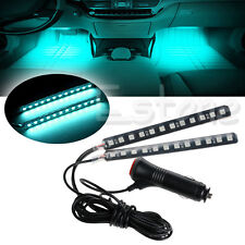 Ice Blue 2X12 LED Car SUV Interior Floor Decor Atmosphere Light Neon Strips New