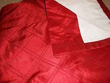"""Christy's Draperies Silk 2 panels drapes curtains Red each 49"""" x 108"""" L"""