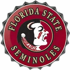 "Florida State Seminoles College Licensed Bottle Top Metal Sign 19"" Made Usa"