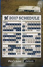 MILWAUKEE BREWERS 2017 SGA MAGNETIC SCHEDULE GIVEN AWAY 2016 FAN APPRECIATION